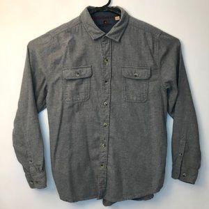 Woolrich Men's Chamois Cloth Shirt Gray/Blue XL